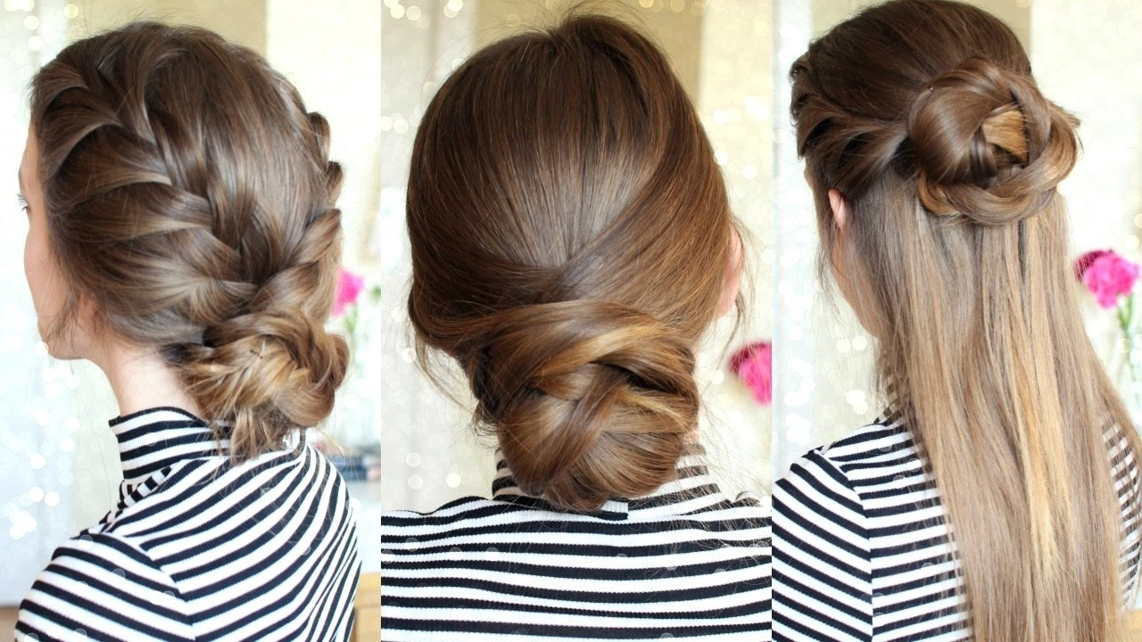 Famous Easy Braided Hairstyles Throughout 3 Easy Braided Hairstyles (View 7 of 15)