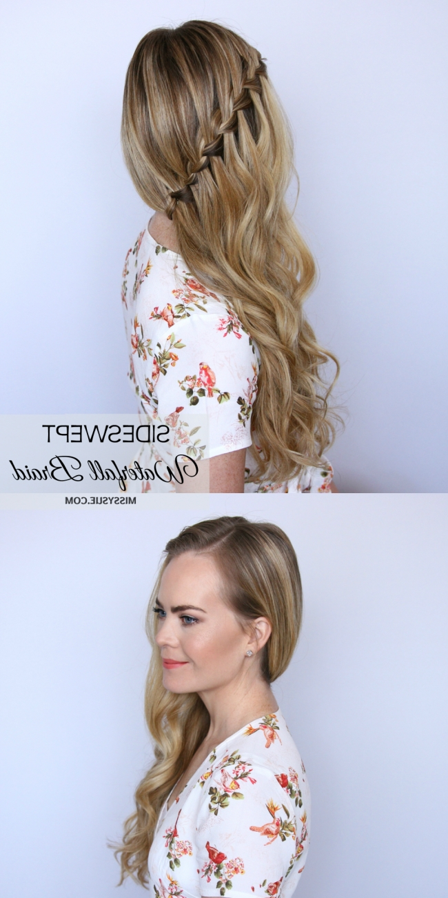 Famous Missy Sue Braid Hairstyles With Regard To Sideswept Waterfall Braid (View 12 of 15)
