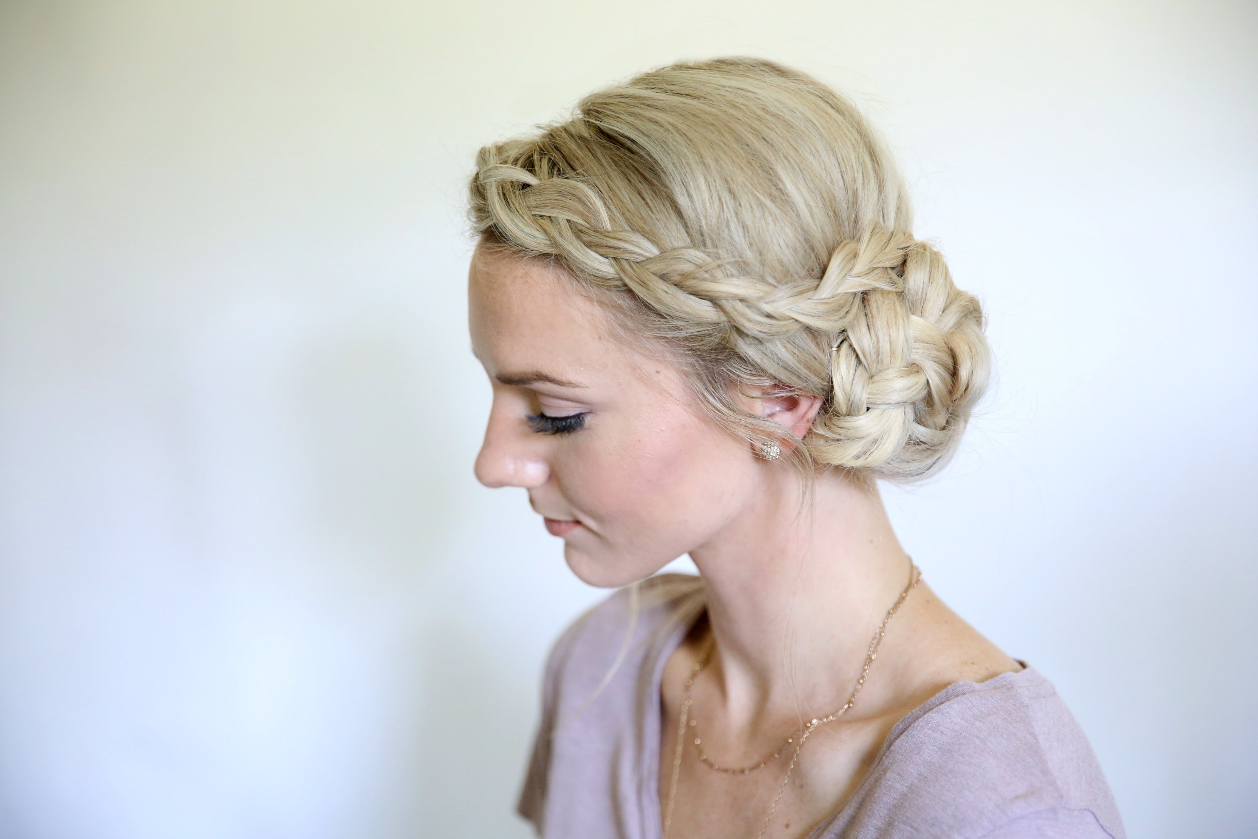 Fashionable Braided Hairstyles For Dance Throughout Easy Braided Side Bun (View 5 of 15)