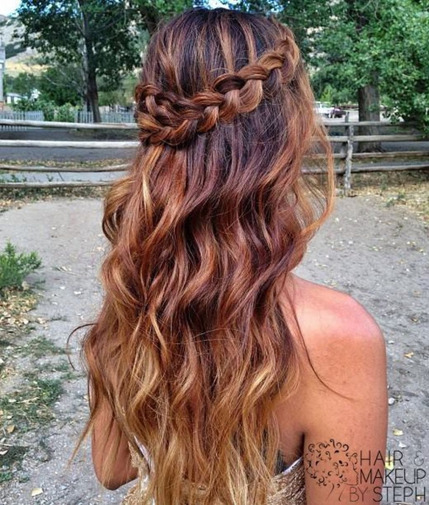 Fashionable Braided Hairstyles For Prom In Prom Half Up Half Down Hairstyles A Braided Hairstyle With Curls For (View 13 of 15)