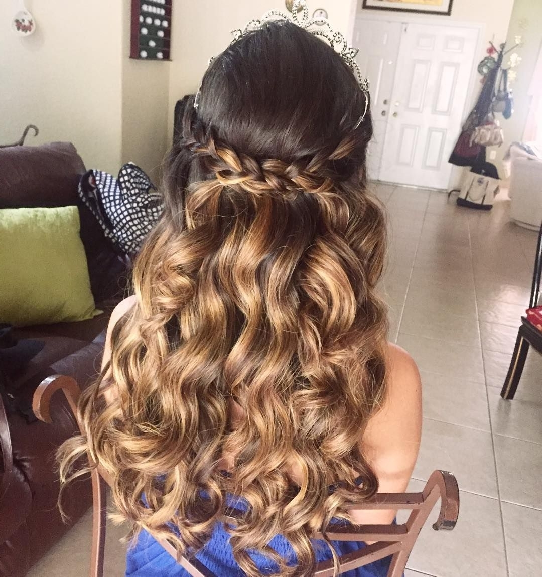 Fashionable Braided Quinceaneras Hairstyles Within Ideastyles For Quinceaneras Pictures Simple With Hair Down Short (View 6 of 15)