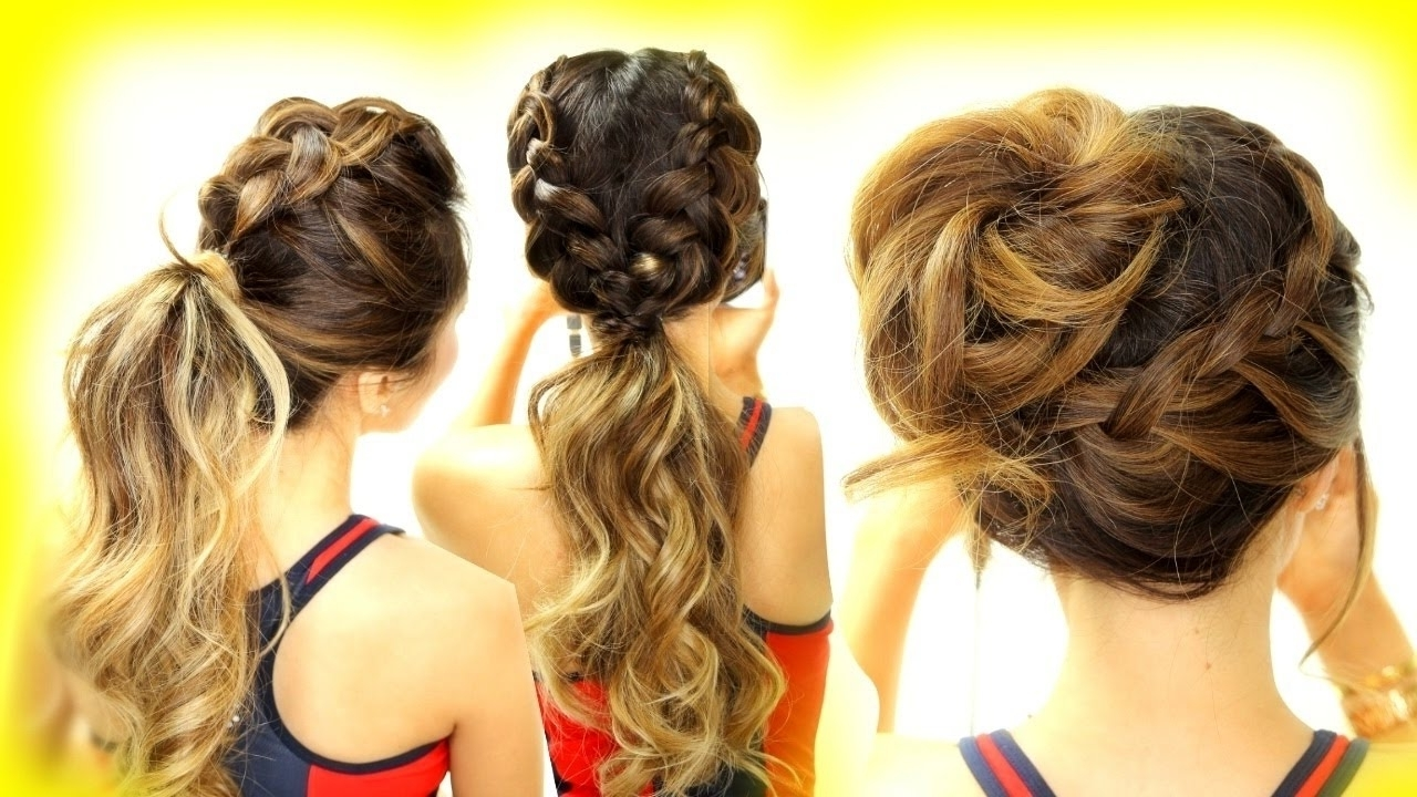 Favorite Braided Gymnastics Hairstyles For 3 ☆ Cutest Workout Hairstyles! Braid School Hairstyles For Long (View 3 of 15)