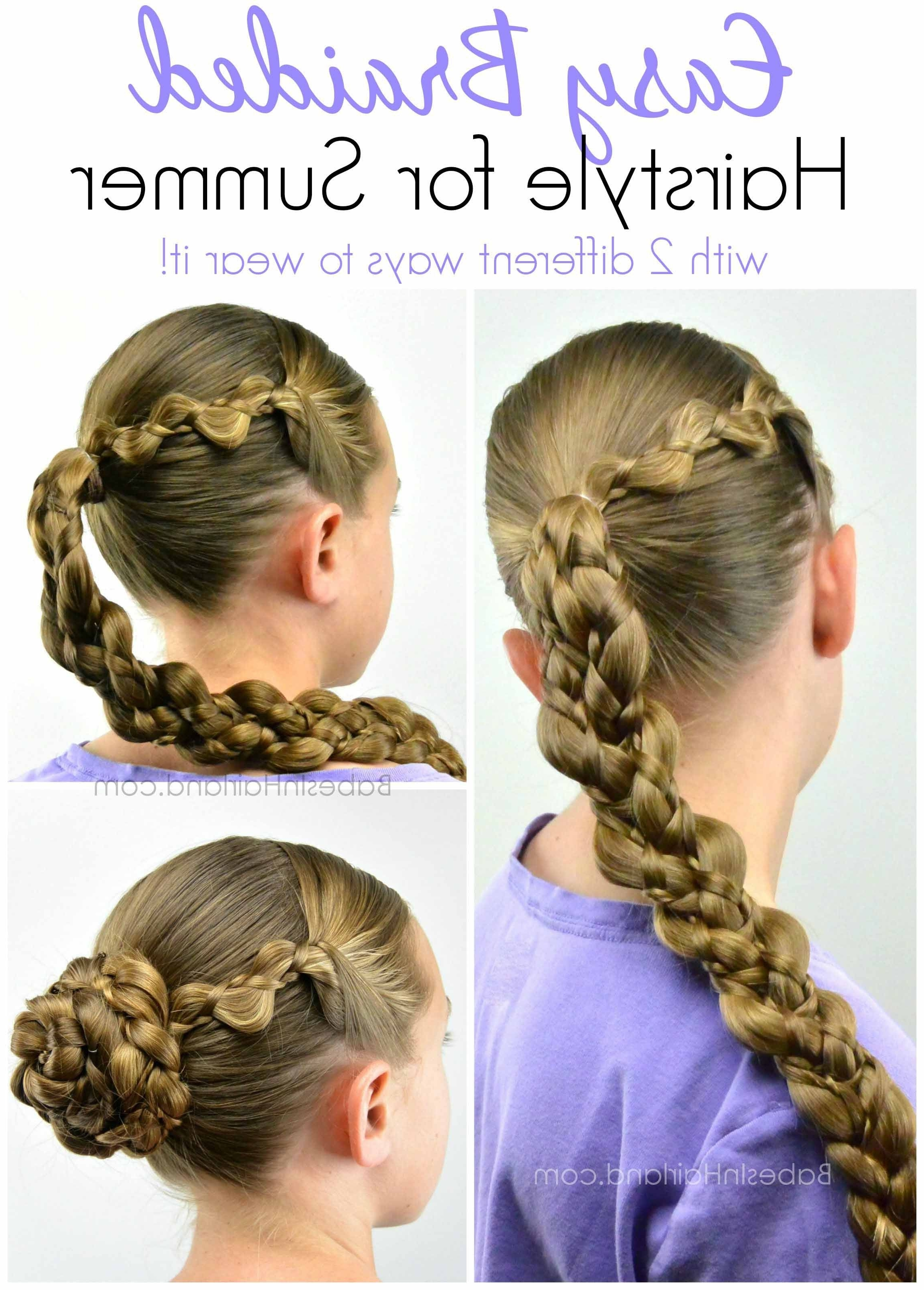 Favorite Braided Gymnastics Hairstyles Intended For Easy Braided Hairstyle For Summer (View 5 of 15)