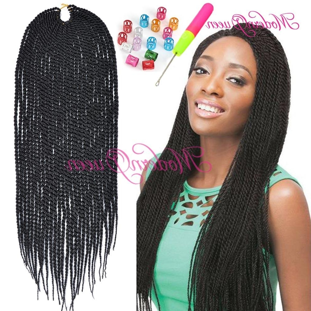 Favorite Braided Hairstyles With Crochet For Senegalese Twist Braiding Hair Crochet Braid Hair 18 Inch 70G Ombre (View 8 of 15)