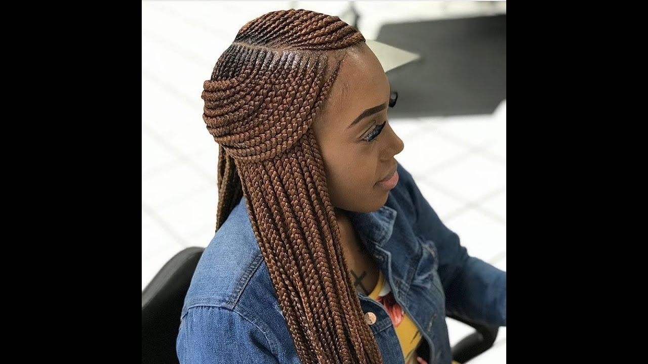 Favorite Braided Hairstyles With Weave Regarding 2018 Weave Braids ; Latest Hairstyles You Should Try Next – Youtube (View 7 of 15)