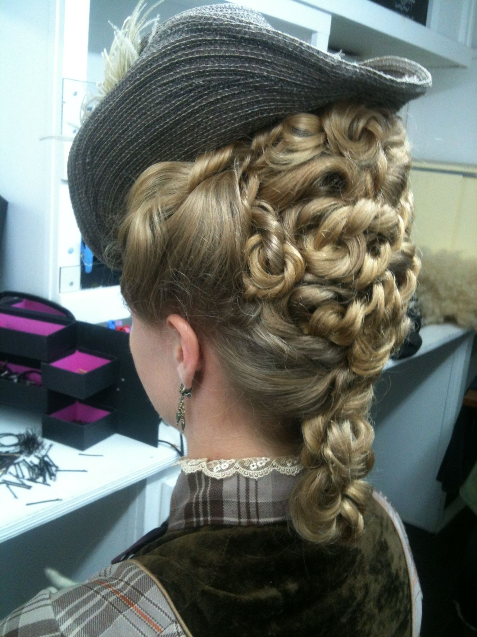 Favorite Braided Victorian Hairstyles With When Sybil Gets To Wear Fetching Little Hats Instead Of Dreary (View 4 of 15)