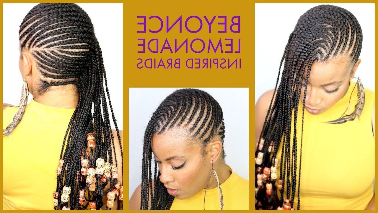 Favorite Lemonade Braided Hairstyles In Lemonade Braids And Beads Beyoncé Inspired – Youtube (View 8 of 15)