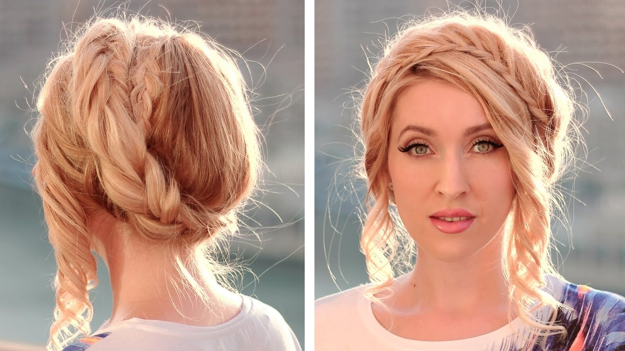 Favorite Milkmaid Braided Hairstyles Within Halo/crown Braid Tutorial ❤ Milkmaid Braids Updo ❤ Hairstyle For (View 14 of 15)