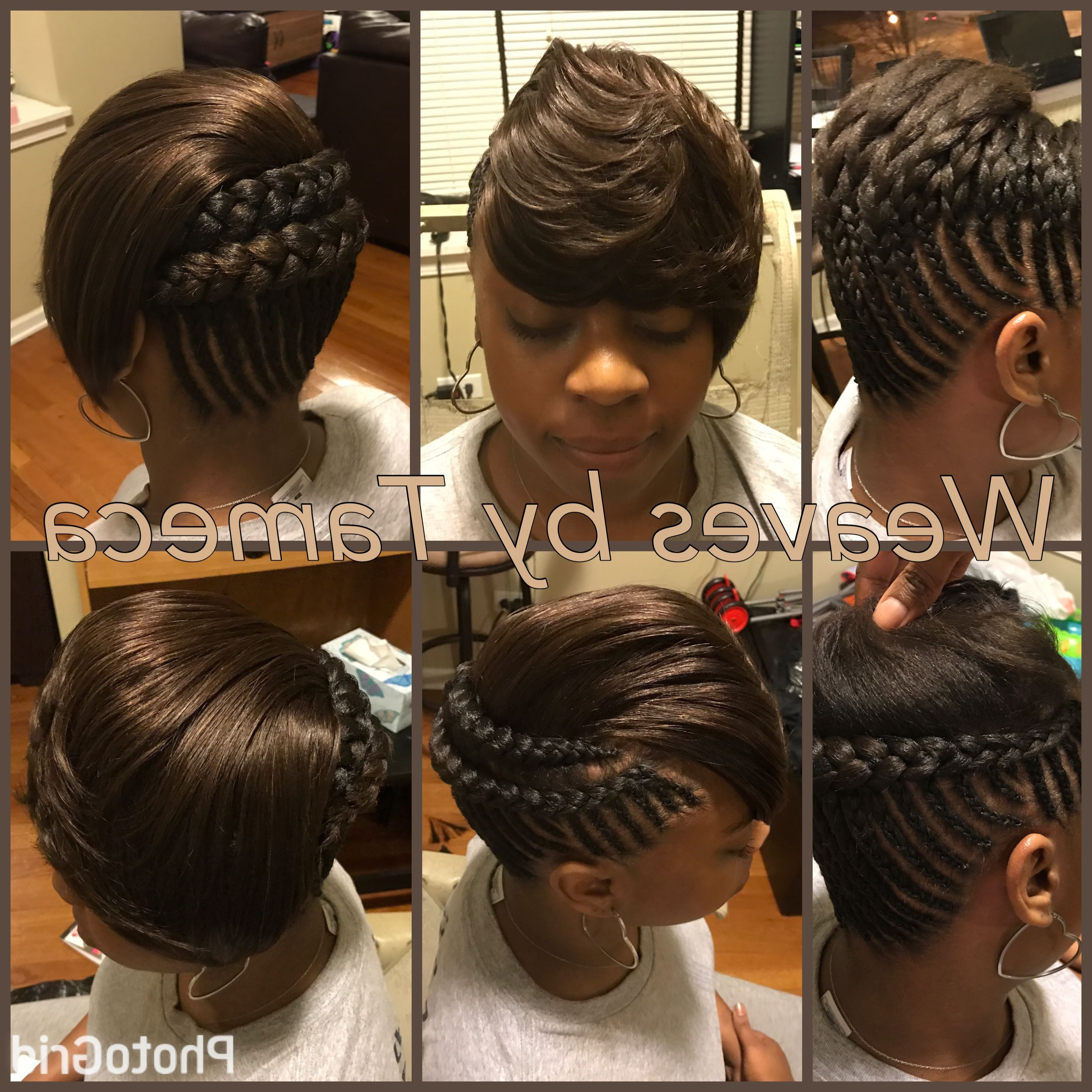 Feed In Braids, Feathered Bang, Bob Look, French Braids, Quick Within Favorite Quick Braided Hairstyles With Weave (View 12 of 15)