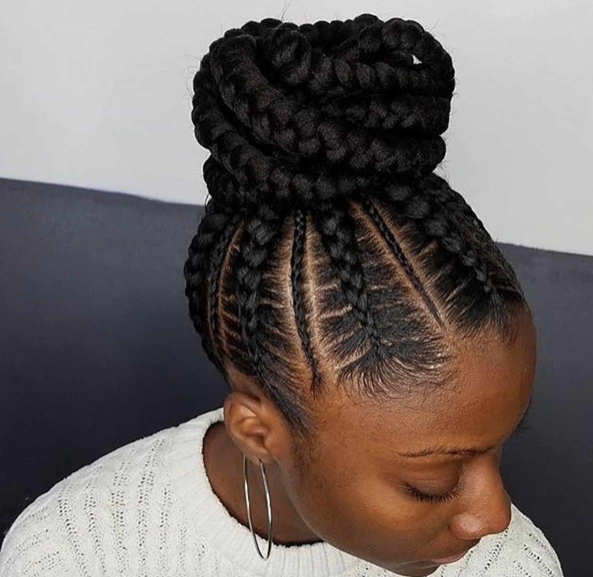 Flawless Braided Bunnarahairbraiding Black Hair Most Delightful Throughout 2017 Braided Up Hairstyles With Weave (View 8 of 15)