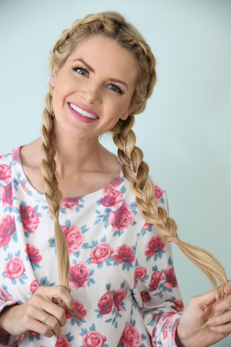 French Braided Pigtail Hairstyles – The Simple Pigtails Hairstyle Inside Latest Pigtails Braided Hairstyles (View 10 of 15)