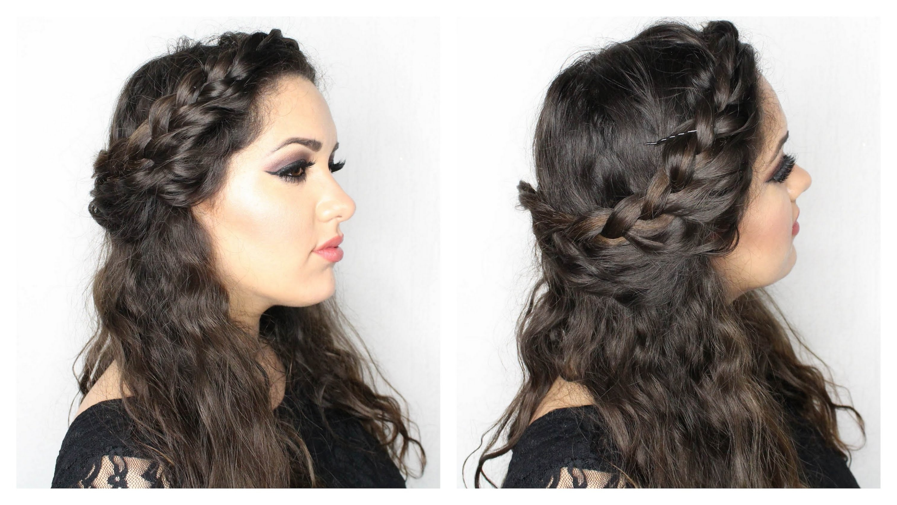 Front Braid With Curly Hair (View 6 of 15)