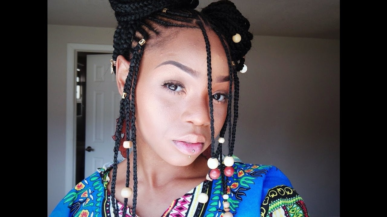 "Fulani/alicia Keys Braids "" Tutorial"" @phivestarhair – Youtube In Famous Alicia Keys Braided Hairstyles (View 10 of 15)"