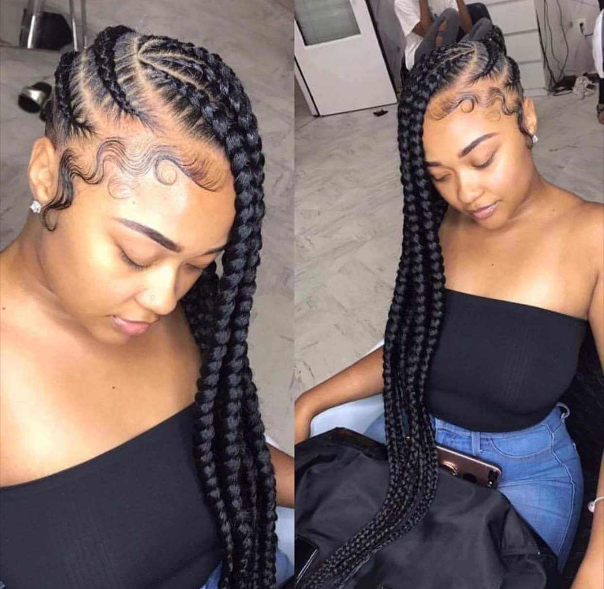 Glamorous Hair Types In Addition Black Braids Hairstyles 2018 Intended For Favorite Black Braided Hairstyles (View 14 of 15)