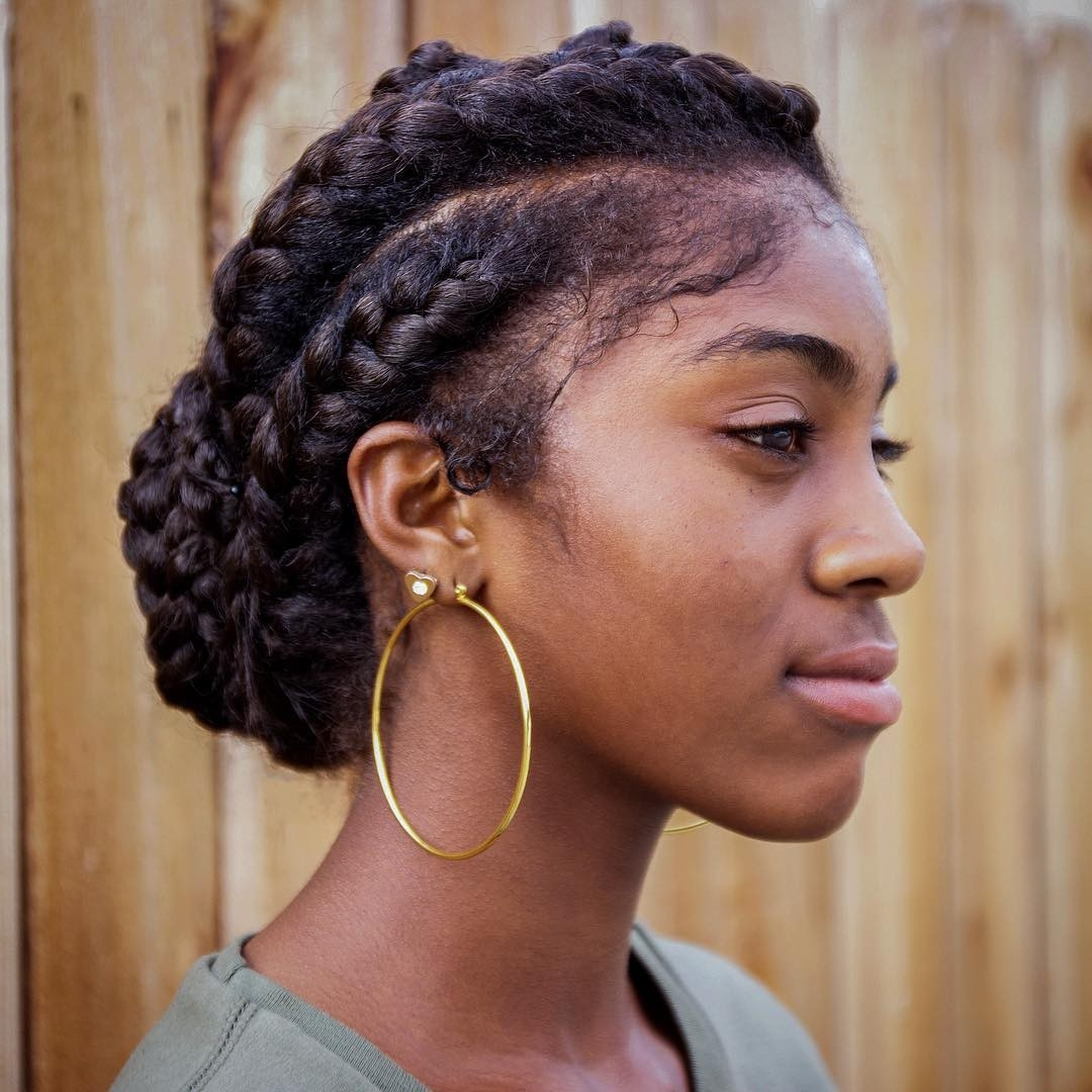 Goddess Braids Hairstyles With Bangs Archives – Hairstyles And For Trendy Braided Hairstyles With Bangs (View 9 of 15)