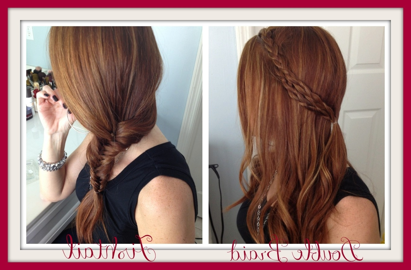 Hair Styles Quick Easy Double Braid Fishtail Keeping (View 8 of 15)