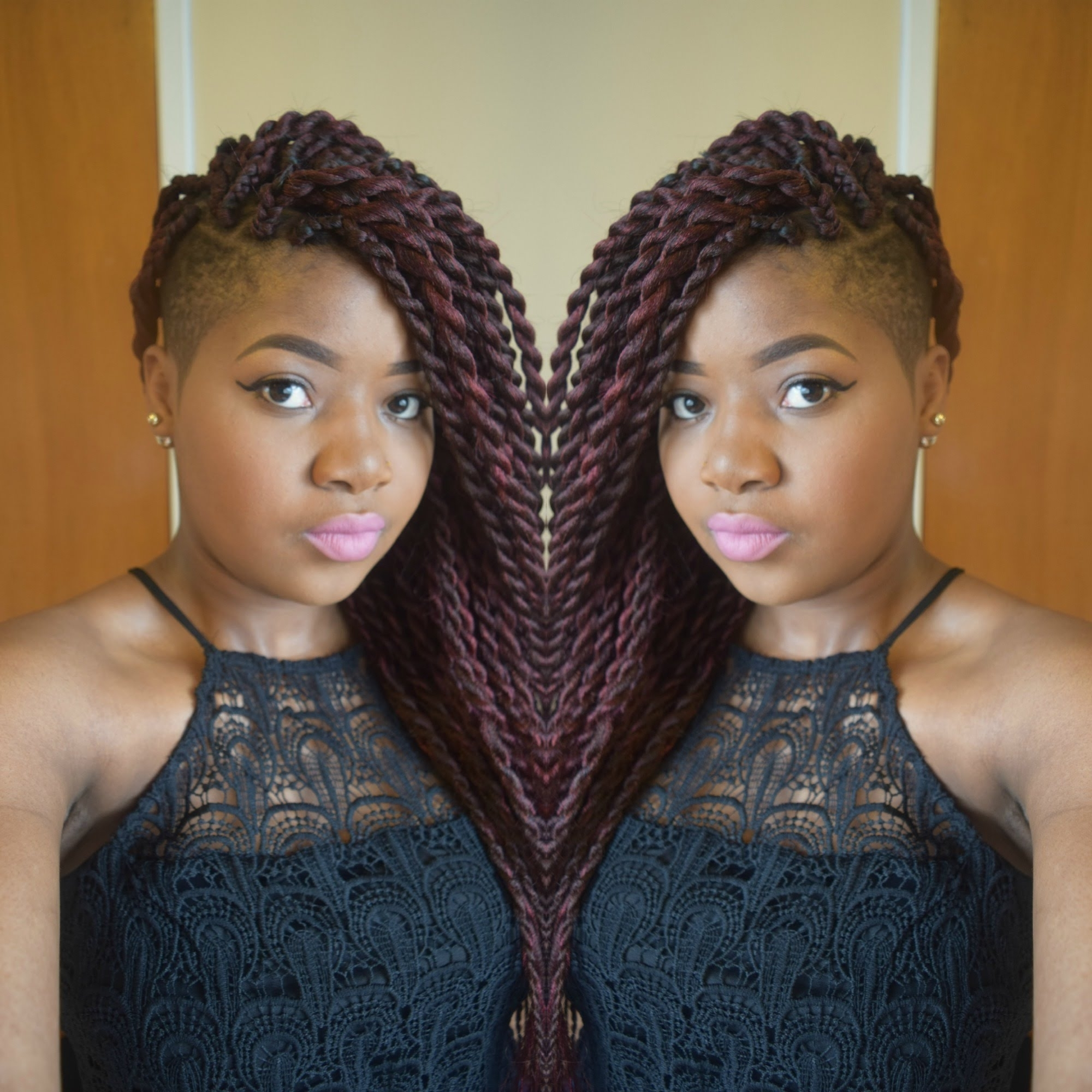 Hair Tutorial :jumbo Senegalese Twists/ Rope Twists/ Two Strand Inside Best And Newest Braided Hairstyles With Shaved Sides (View 3 of 15)