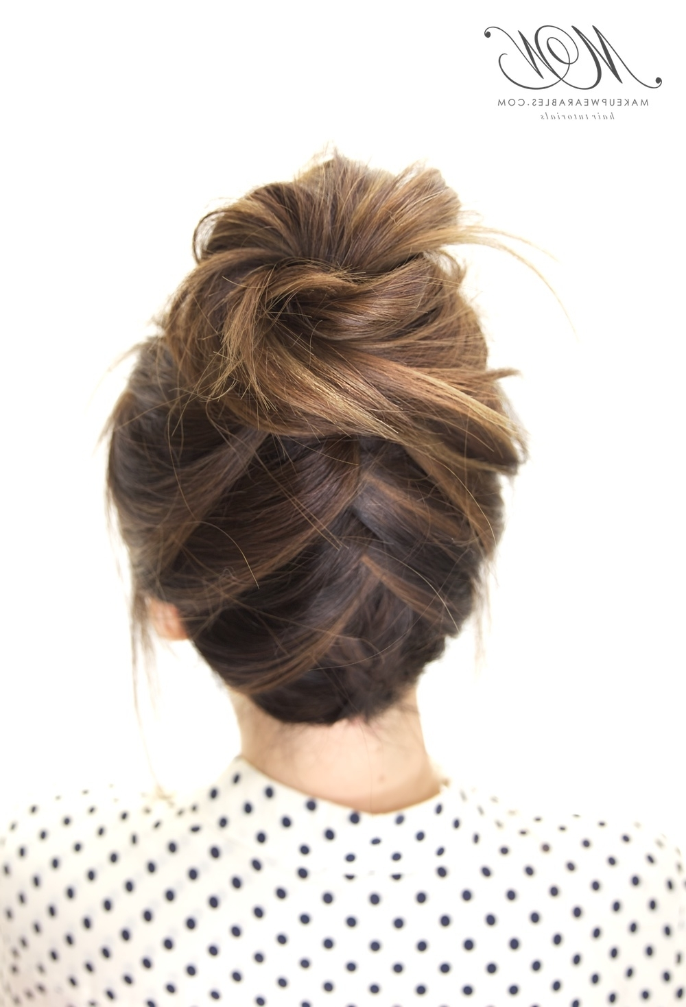 Hairstyle Tutorial Inside Fashionable Messy Bun Braided Hairstyles (View 14 of 15)