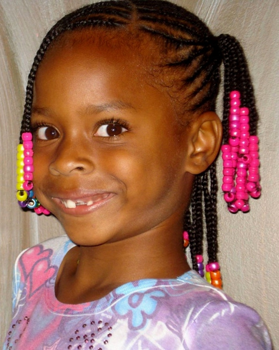 Hairstyles Ideas Intended For Regarding Fashionable Braided Hairstyles For Little Black Girls (View 8 of 15)