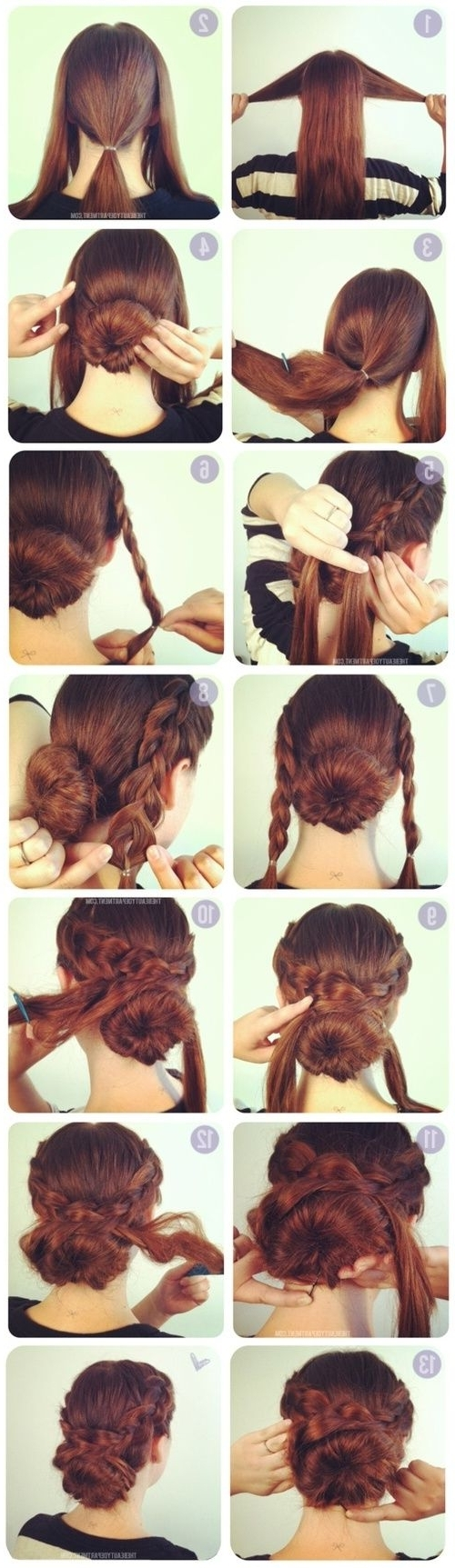Hairstyles Of The Regency To Victorian / Braided Cross Bun Updo (View 9 of 15)