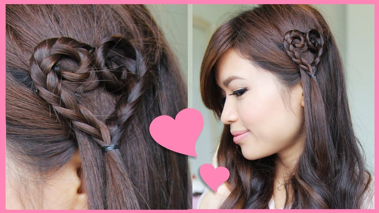 Heart Braid Tutorial ♥ Valentine's Day Hairstyle – Youtube With Regard To Preferred Heart Braided Hairstyles (View 7 of 15)