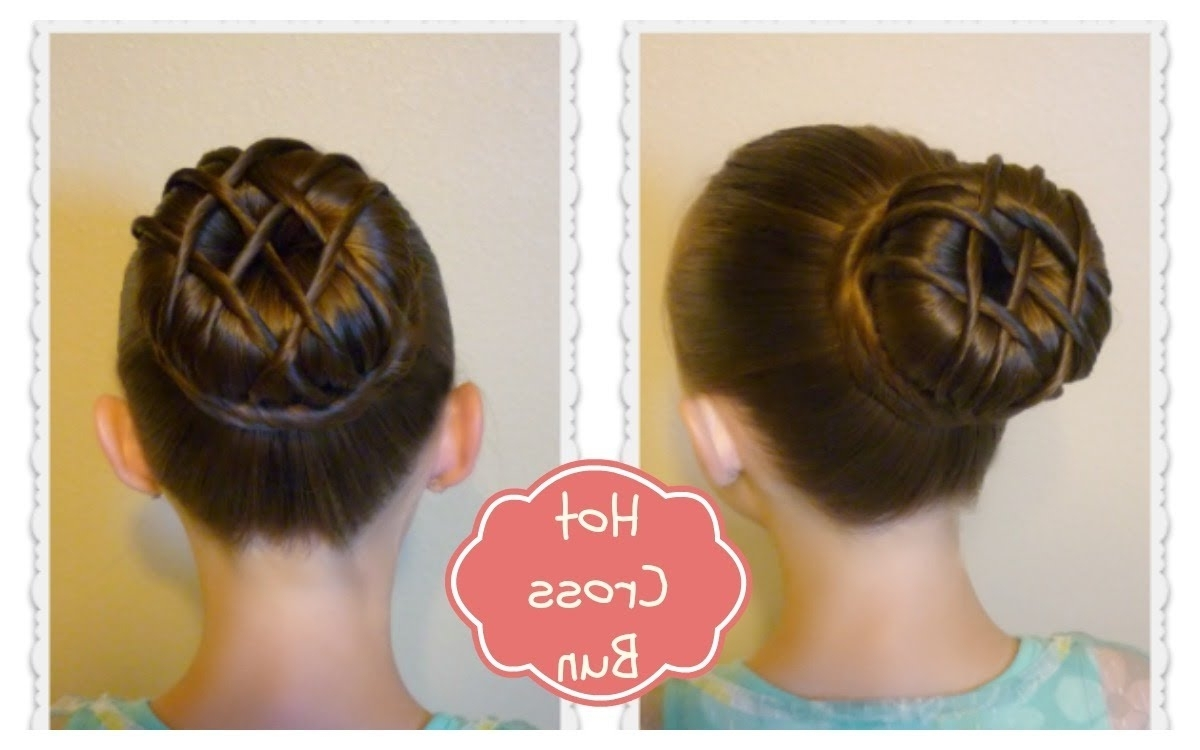 Hot Cross Bun Hairstyle – Dance Hair, Ballet Bun – Youtube Pertaining To Latest Braided Hairstyles For Dance Recitals (View 4 of 15)