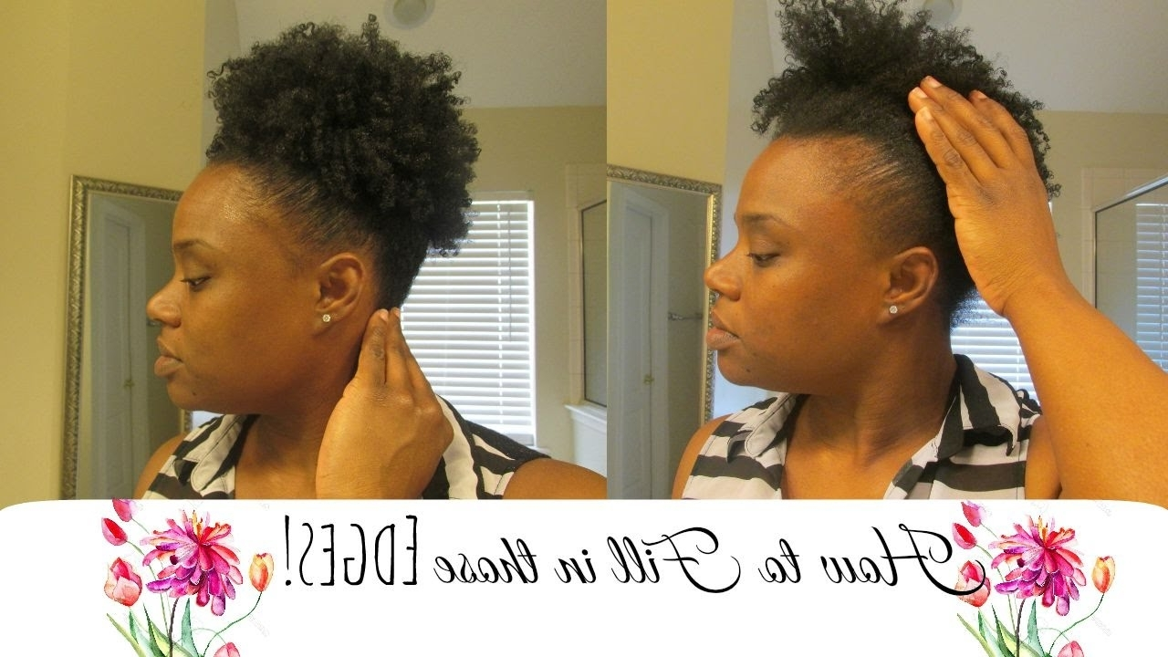 How To Cover Thin Edges – Youtube Pertaining To Latest Braided Hairstyles Cover Bald Edges (View 6 of 15)