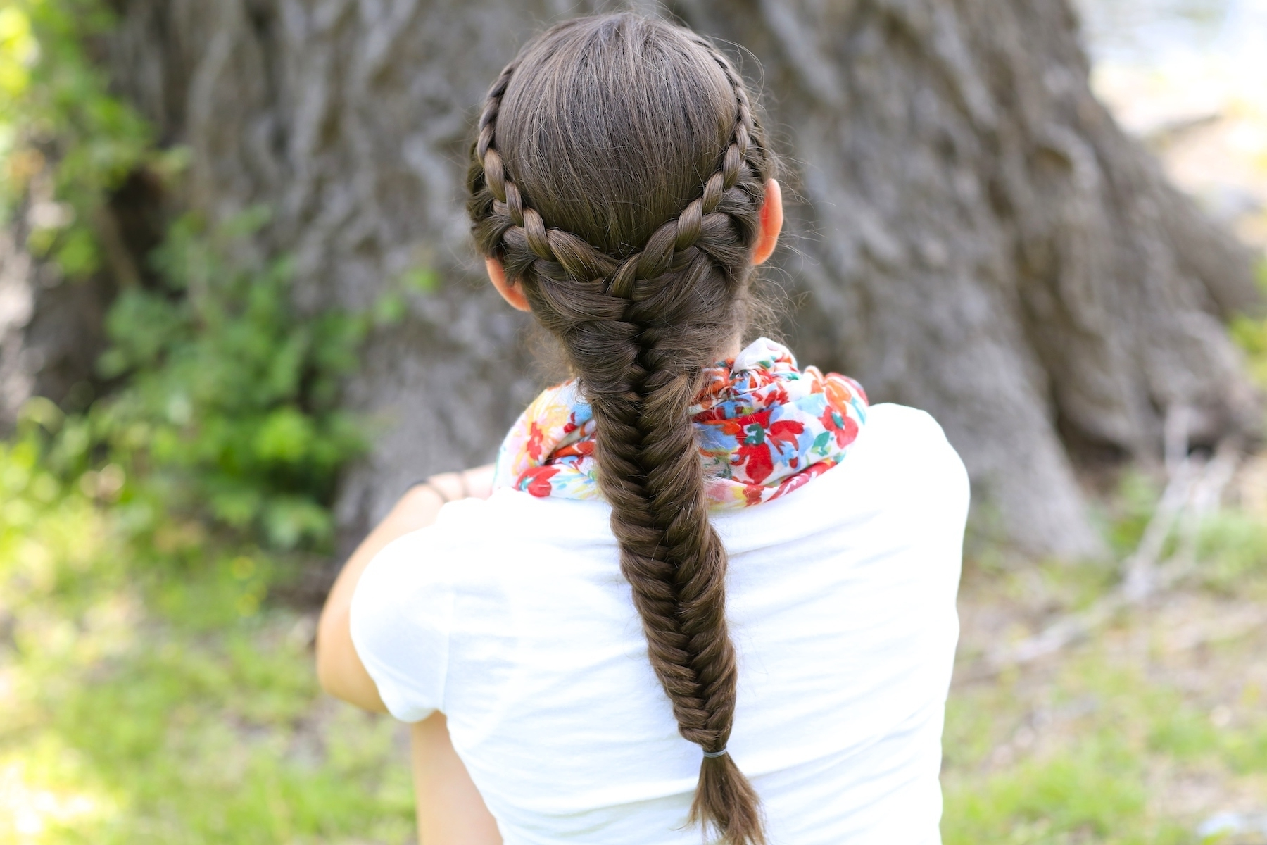How To Create A Laced Fishtail Braid (View 10 of 15)