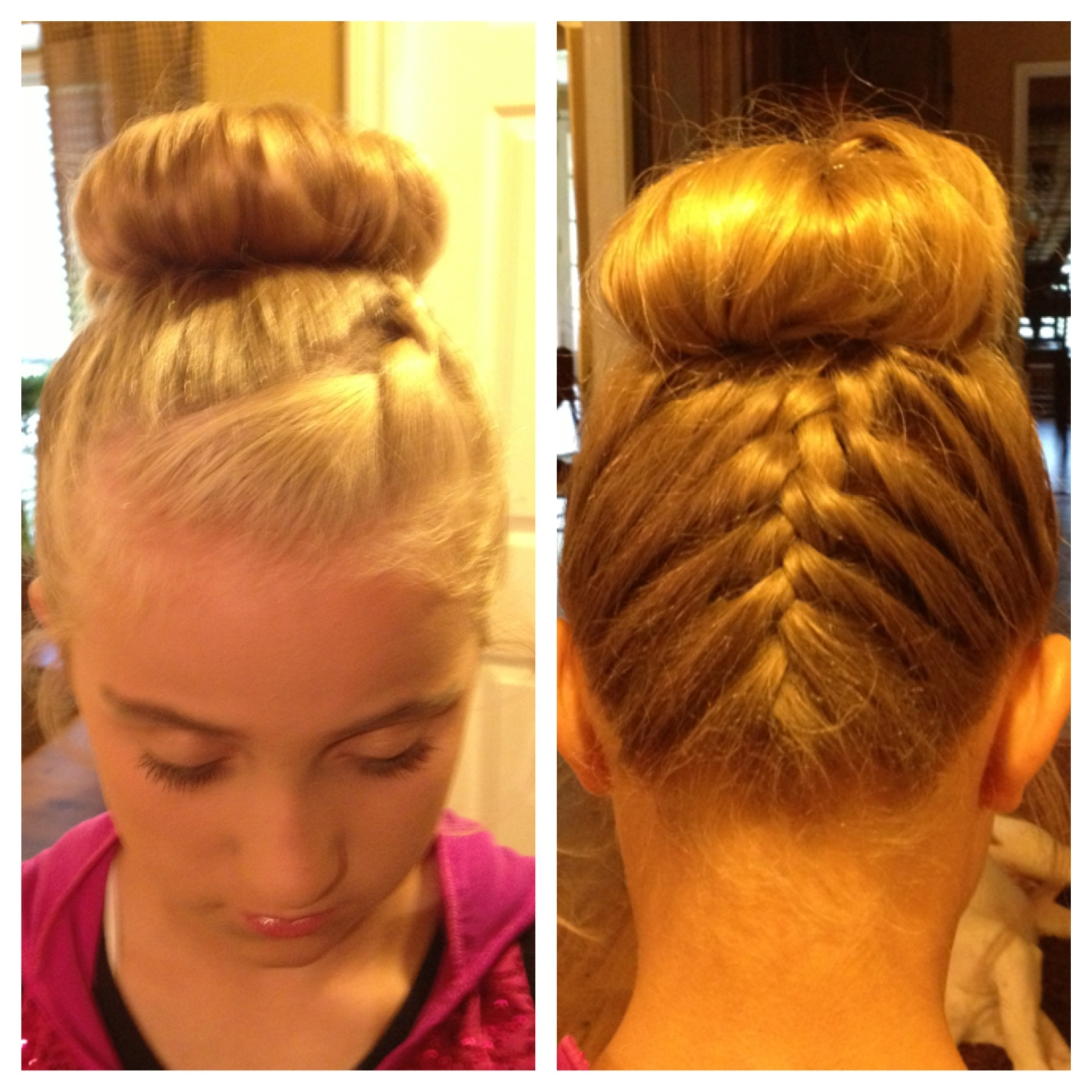 Ideas Of Dance Bun Hairstyles Great French Braid In The Back And A With Regard To Widely Used Braided Hairstyles For Dance Recitals (View 14 of 15)