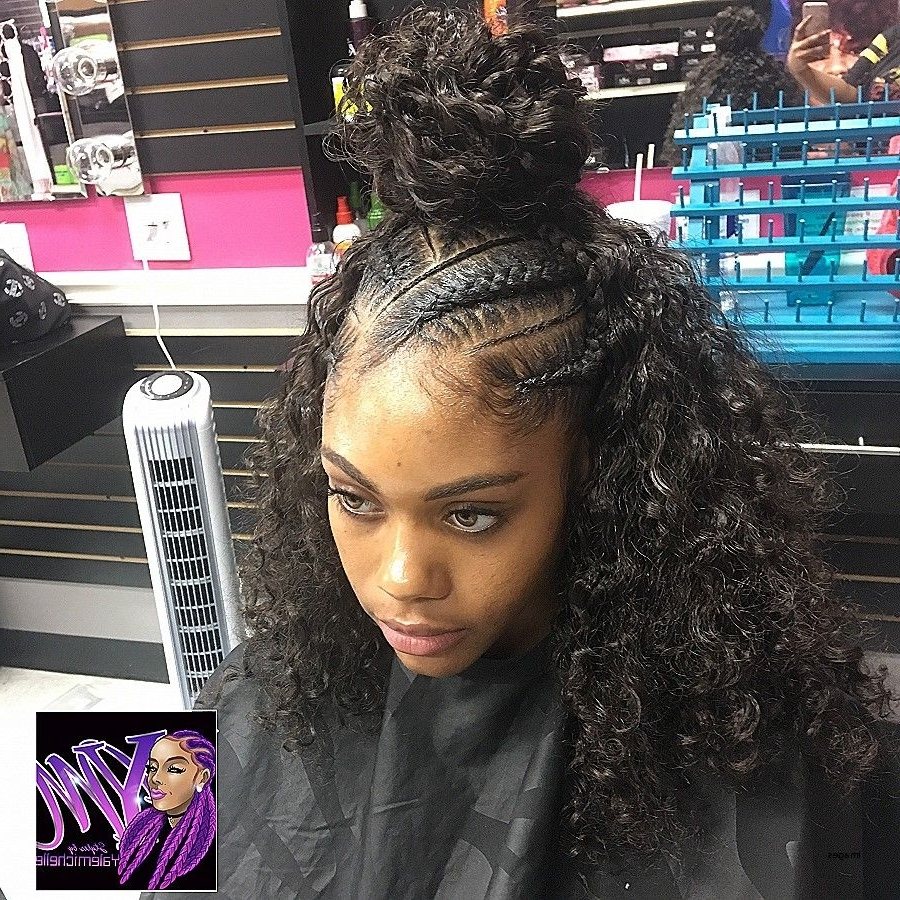 Inspiring Curly Hairstyles Elegant Braided Weave Image For Black In Widely Used Braided Extension Hairstyles (View 14 of 15)