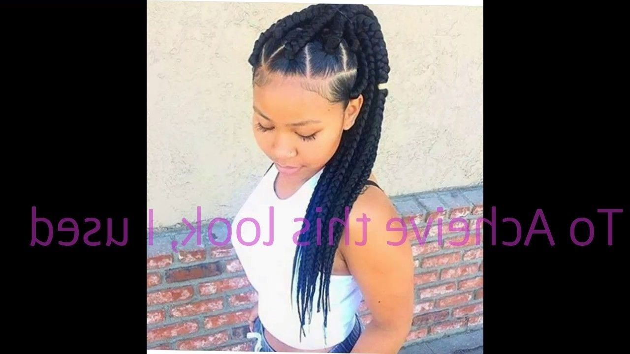 Jaelyn Hair Styles Inside Popular Braid Hairstyles With Rubber Bands (Gallery 11 of 15)