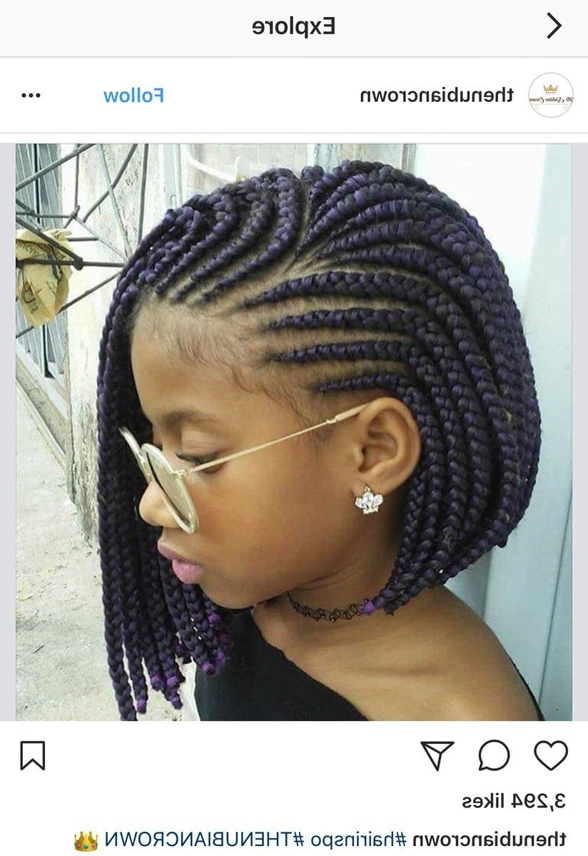 Jessica Dark, Cornrow And Bobs For Famous Braided Hairstyles For Black Girls (Gallery 4 of 15)