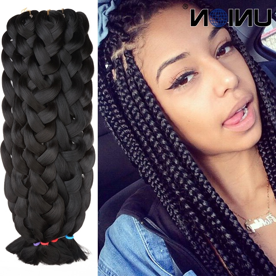 Kanekalon Jumbo Braids Braiding Hair Synthetic Heat Resistant Hair With 2017 Braided Extension Hairstyles (Gallery 7 of 15)