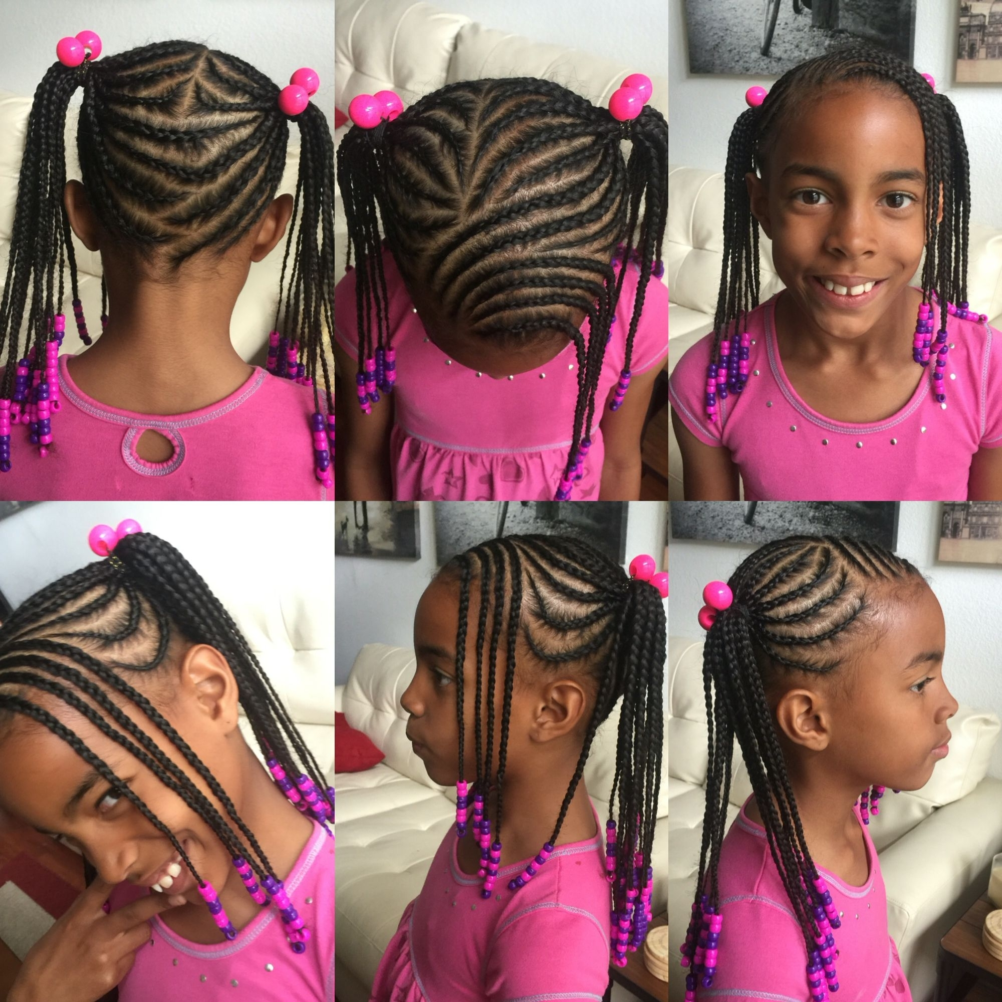 Kids Braided Hairstyle. Braided Into Two Ponytails With Bangs And Inside Well Known Braided Hairstyles With Bangs (Gallery 14 of 15)