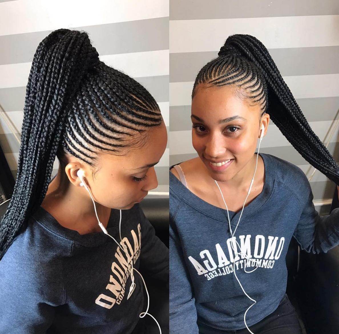 2020 Popular Black Braided Ponytail Hairstyles