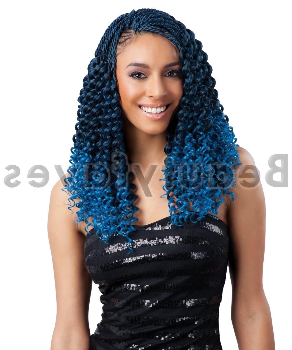 Latest Braided Extension Hairstyles Pertaining To Pre Curled Bohemian – Freetress Braid Bulk Crochet Braiding Hair (View 14 of 15)