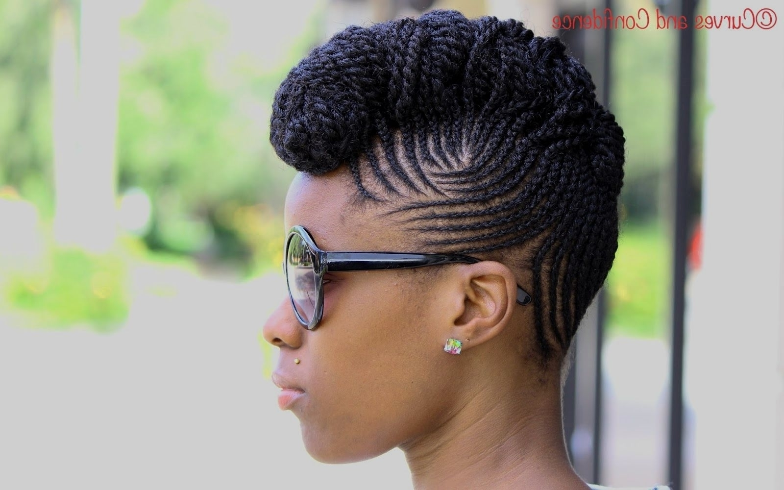 Latest Braided Hairstyles For Natural Hair Throughout Braided Hairstyles For Natural Hair Pinterest Braid Outles Short (View 6 of 15)