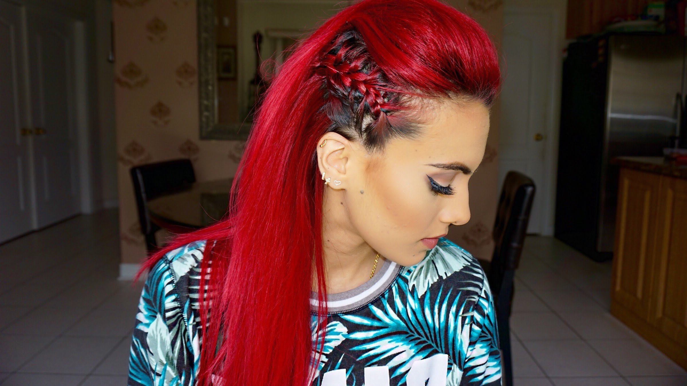 Latest Braided Hairstyles For Red Hair Regarding Braided Faux Hawk Hair Tutorial – Youtube (View 14 of 15)