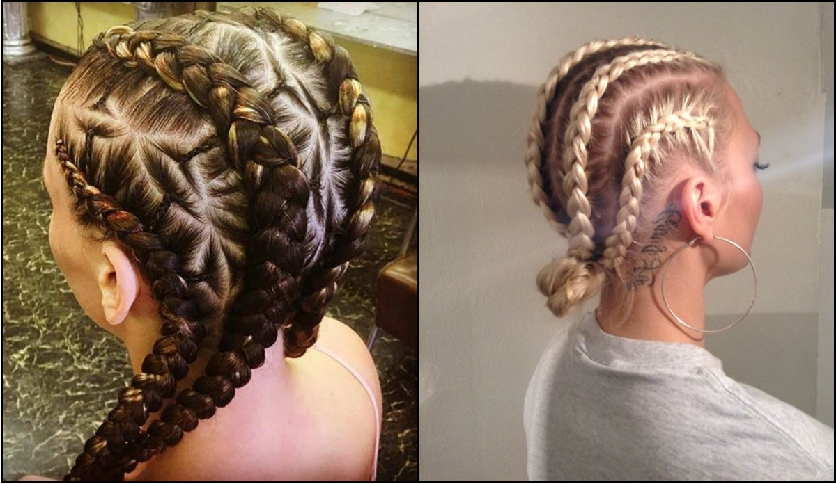 Latest Braided Hairstyles For White Hair Regarding White Girl Box Braids Hairstyles To Try Now (View 4 of 15)