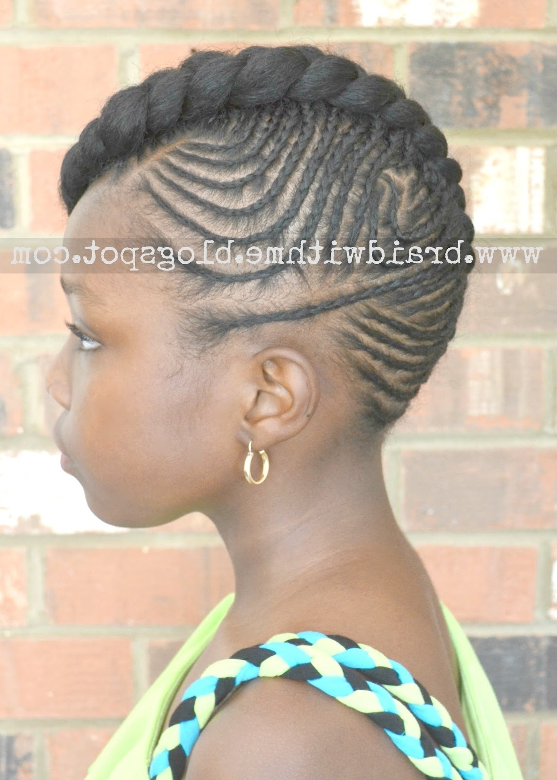 Latest Braided Hairstyles On Short Natural Hair Inside Braid Styles For Short Natural Hair – Bakuland – Women & Man Fashion (View 15 of 15)