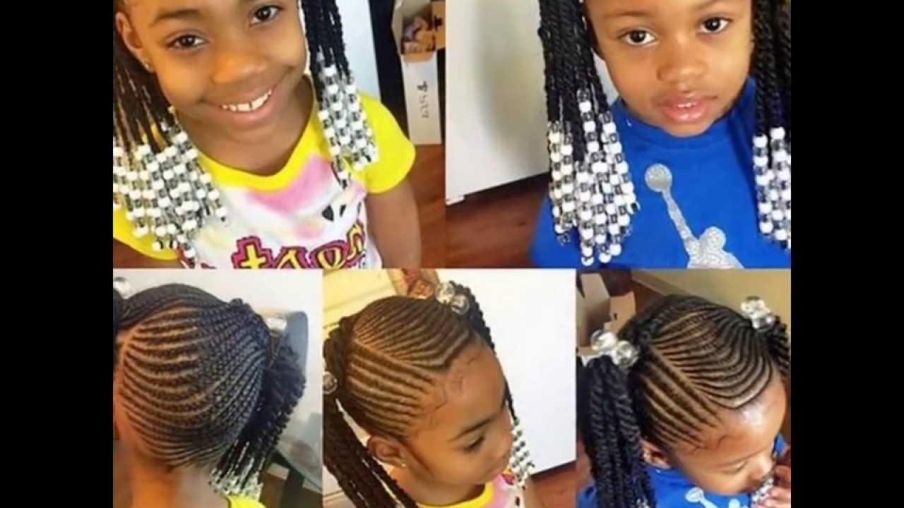 Latest Braided Hairstyles With Beads Intended For Kids Braided Hairstyles With Beads – Youtube (View 9 of 15)