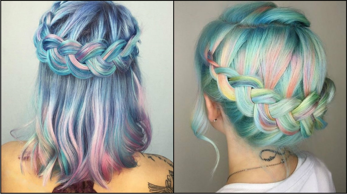 Latest Braided Hairstyles With Color In Impressive Pastel Color Braids Hairstyles You Won't Miss Out (View 7 of 15)