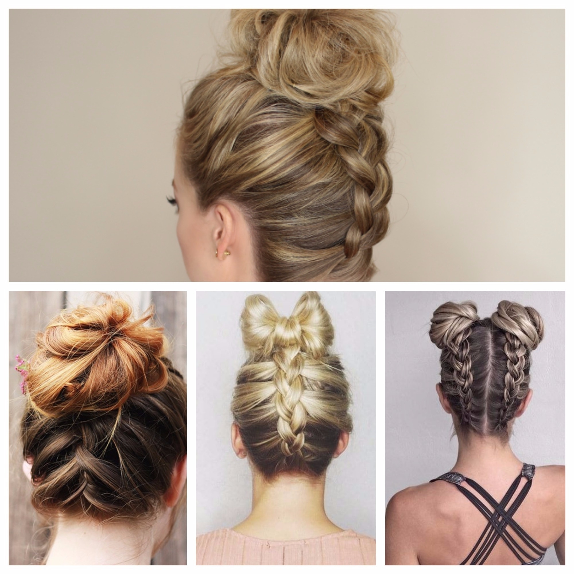 Latest Bun Braided Hairstyles Within Upside Down French Braid Hairstyles For 2018 – New Hairstyles (View 10 of 15)