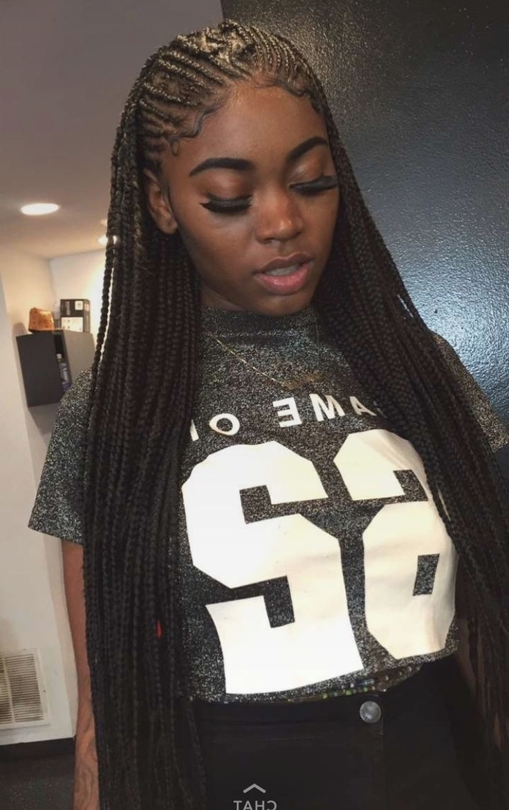 Latest Cornrows Braid Hairstyles With Regard To Small Cornrow Braid Styles (View 10 of 15)