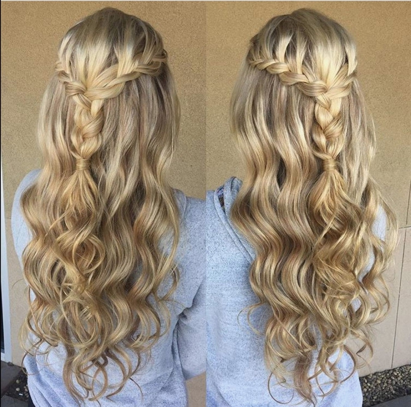 Latest Up Braided Hairstyles With Braid Hairstyles : Cool Half Up Half Down Braided Prom Hairstyles In (View 6 of 15)