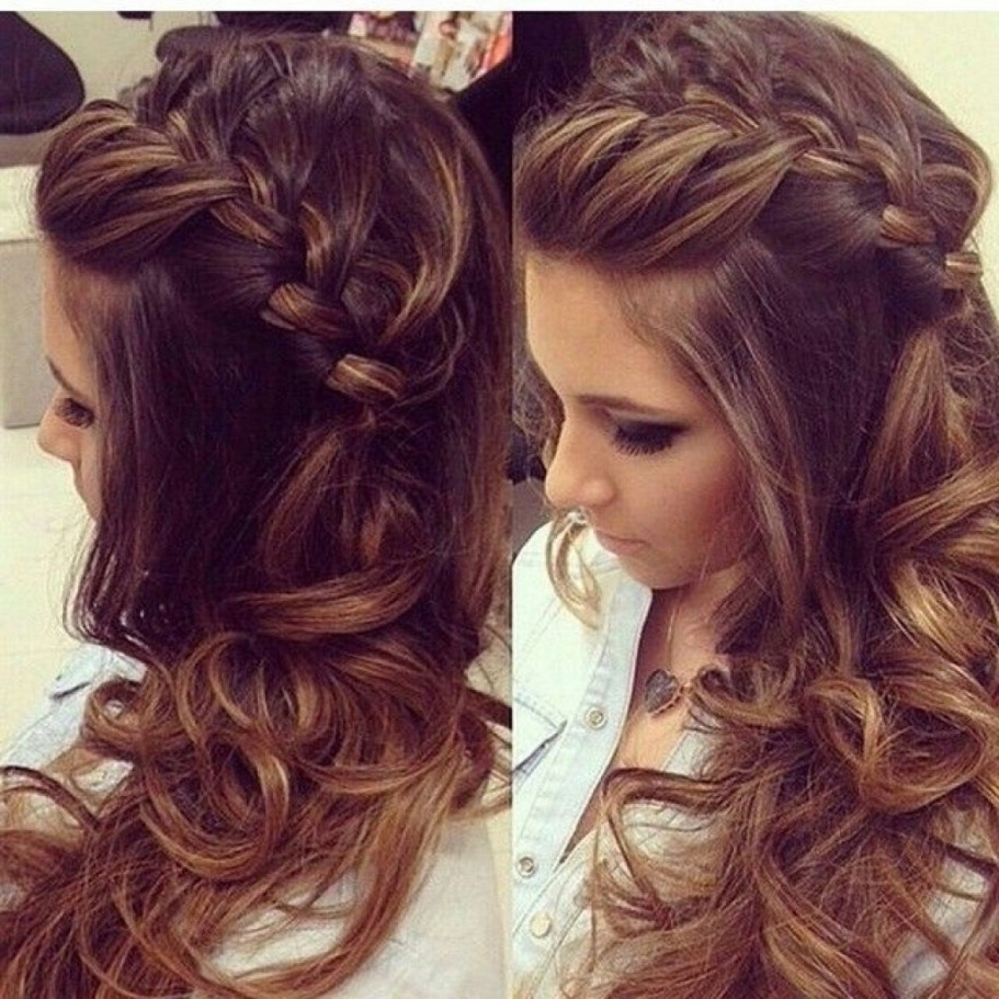 Long Curly Braided Hairstyle Prom Hairstyles For Long Hair With In 2017 Curly Braid Hairstyles (View 7 of 15)