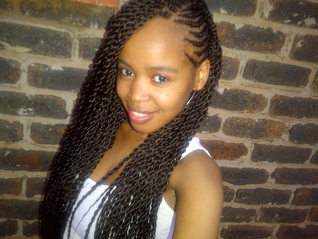 Long Twist Braids, Side Cornrows And Twist Braid Within Best And Newest Twist Braided Hairstyles (View 7 of 15)