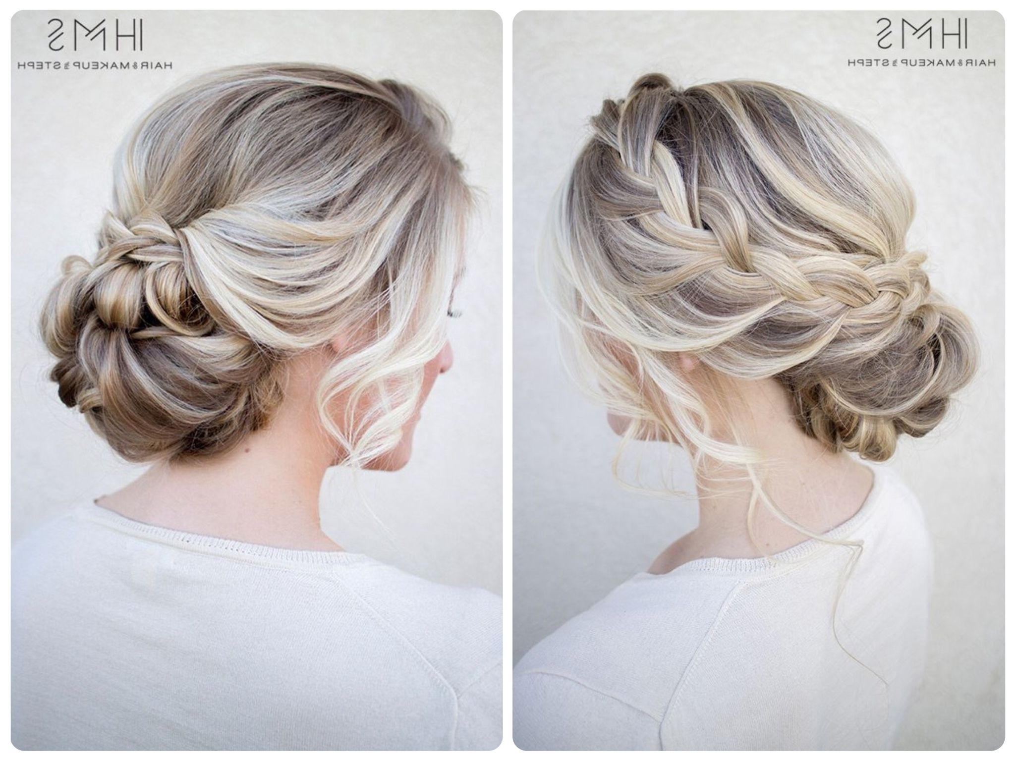 Low Messy In Well Liked Messy Bun Braided Hairstyles (View 9 of 15)