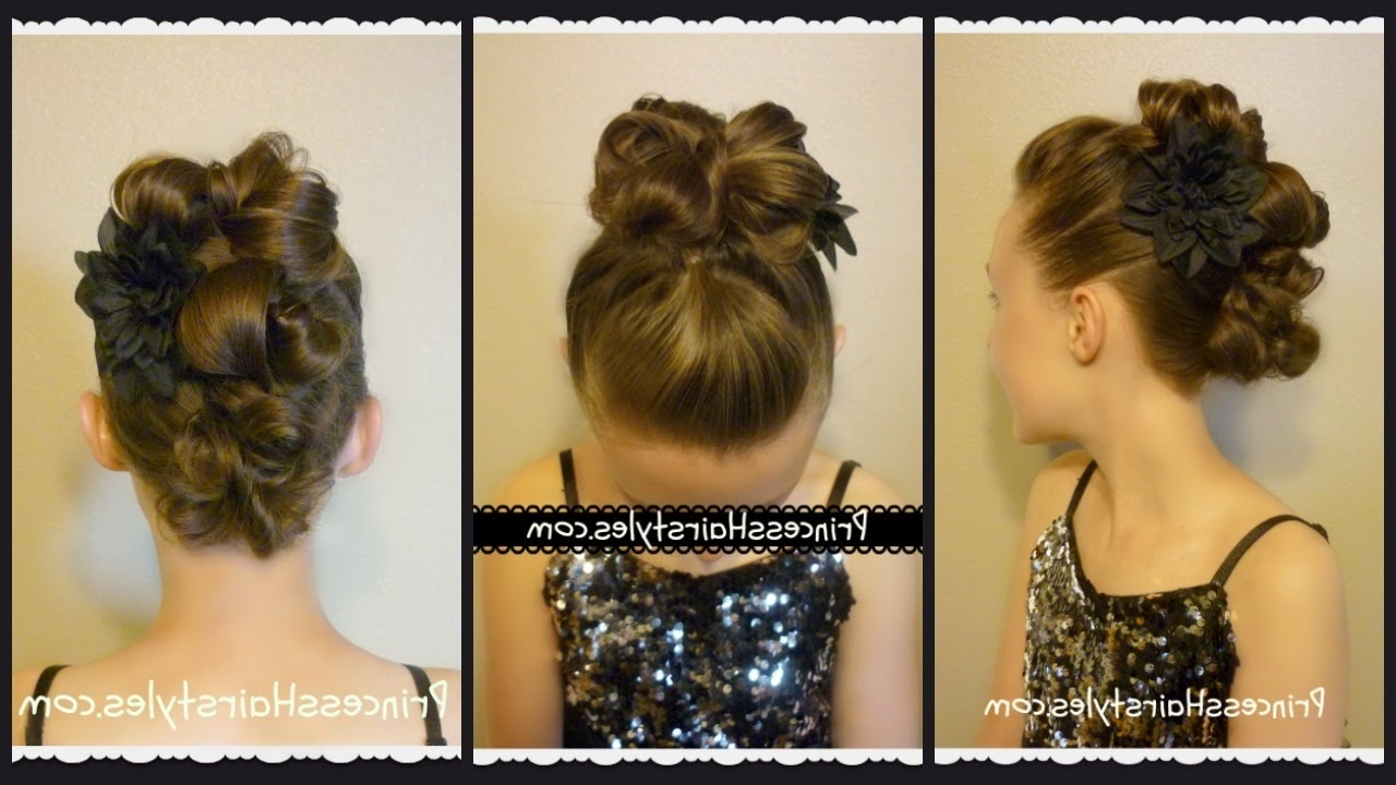 Messy Bun Faux Hawk For Long Hair, Dance Hairstyles – Youtube With Trendy Braided Hairstyles For Dance Recitals (View 13 of 15)
