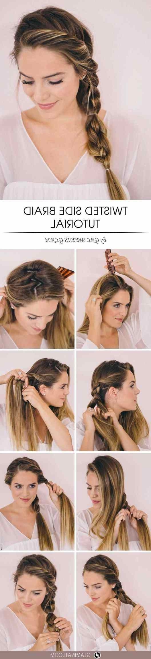 Messy Bun With Lazy Minute Easy Hairstyles Stepstep Braids Regarding Trendy Korean Braided Hairstyles (View 11 of 15)
